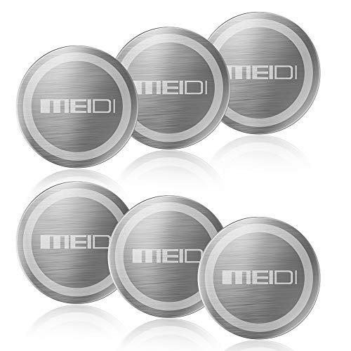 MEIDI Mount Metal Plate - 6 Pack Universal Metal Disc Replacement Kit Non-Marking 3M Adhesive Compatible with Cell Phone Magnetic Car Holder (Silver)