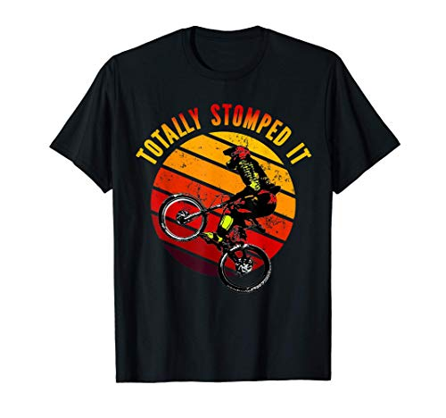 MTB Totally Stomped It Vintage Mountain Biker T-Shirt