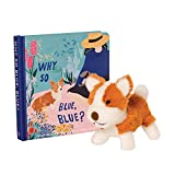 Manhattan Toy Why So Blue, Blue Baby and Toddler Board Book + Corgi Stuffed Animal Dog Gift Set