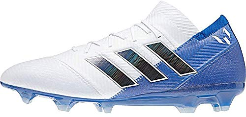 Adidas Nemeziz Messi 18.3 FG J, Botas de fútbol Unisex niño, Blanco (Ftwbla/Negbás/Fooblu 001), 35 EU
