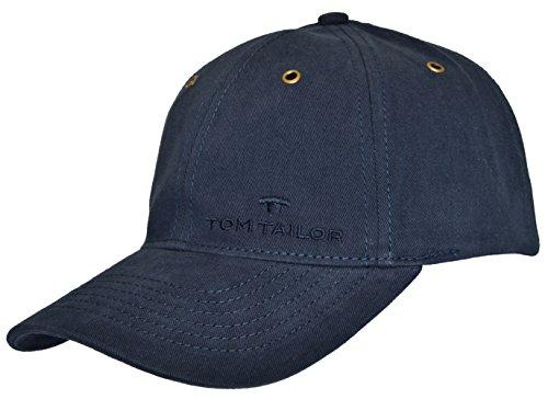 Tom Tailor Herren Basecap Mütze 6-Panel-Cap Base Cap Kappe Baseball Cap uni one size div. Farben (Navy (0485))