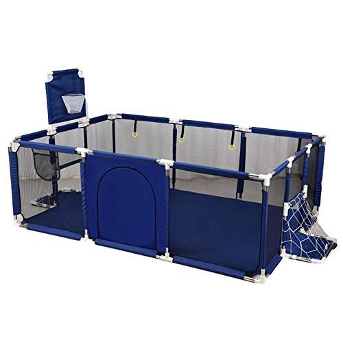 Vitila 32 sq ft AzulParque De Juegos Bebes con Malla Transpirable,4 Piezas Parque Juegos para 0-11 Años De Interior Al Aire Libre