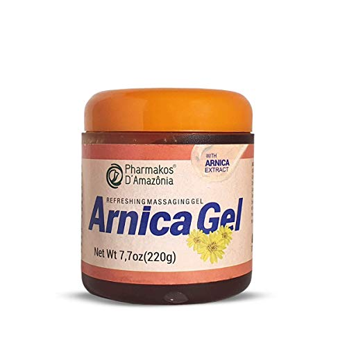 Pharmakos Arnica Gel Cream, Refreshing Massage Gel for Bruises, Swelling and Pain Relief, 7.7 oz