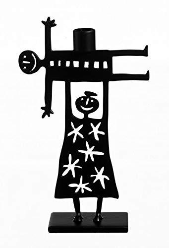 Bengt & Lotta The Lift schwarz Kerzenständer Höhe 8,5 cm