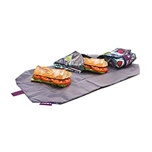 Roll'eat - Boc'n'Roll Teens Girls Bolsa Merienda Porta Bocadillos Ecológica sin BPA, Bicycle Multicolor