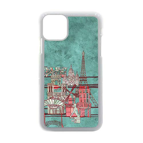 no-branded For Kid Original Use On iPhone 12 Pro MAX 6.7 Inch Shell Plastic Have with Eiffer Tower Stamp 1 Choose Design 155-5