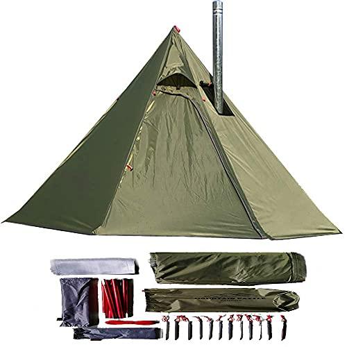Longeek zelt 2 personen ultralight,trekking zelt,für Rucksackreisen, Camping, Wandern, beheizter Schutz, Rauchhütte, Schornstein, Hot Tipi, einfach aufzubauen