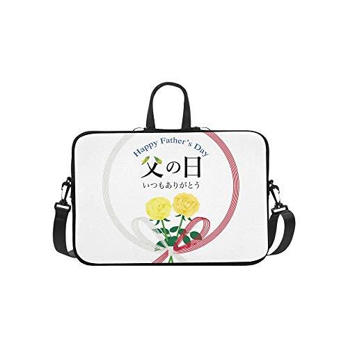 Laptop Umhängetasche Umhängetasche Tasche Notebook Griff Ärmel Neopren Soft Carring Tablet Reisetasche, Japanisches Geschenkpapier Happy Fathers Day Laptop Handtaschen 14