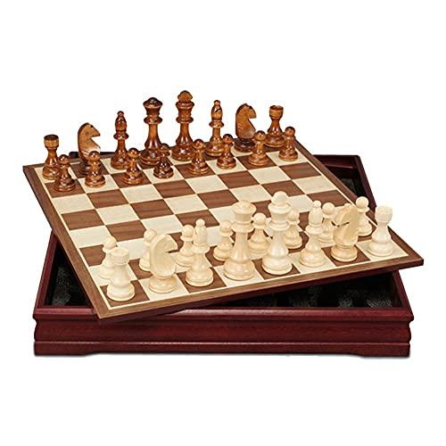Juego de ajedrez juego Juego de mesa de viaje Juego familiar Juego de ajedrez conjunto de ajedrez de madera Juegos de mesa al aire libre Juegos de mesa Juegos de mesa de ajedrez Set de cumpleaños Rega