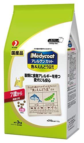 メディコート アレルゲンカット 魚&えんどう豆蛋白 7歳から 高齢犬用 3kg(500g×6袋)