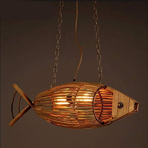 Lyuez Bamboe kroonluchter retro creatief restaurant cafe Aisle decoratieve wandlamp warm licht milieuvriendelijk plafondlamp
