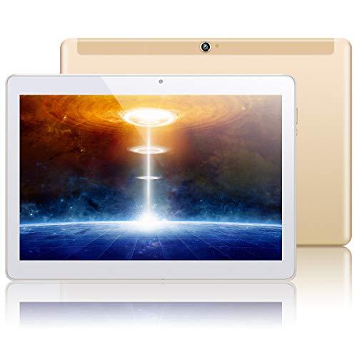 KUNWFNIX Tab Q10 - Tablet de 10 pulgadas, Android 10.0 (certificado GMS), con procesador de ocho núcleos, 4 GB de RAM 128 GB de ROM, 256 GB de memoria ampliable, cámara dual, Wi-Fi, GPS, Bluetooth 4G