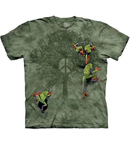 The Mountain Peace Tree Frog Herren-T-Shirt, kurzärmelig, Herren, Herren, Kurzarm, Skull Dragon Adult T-Shirt, Blue, Medium, grün, X-Large