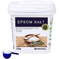NortemBio Sal de Epsom 2,8 Kg. Fuente Concentrada de Magnesio. Sales 100% Puras. Baño y Cuidado Personal.