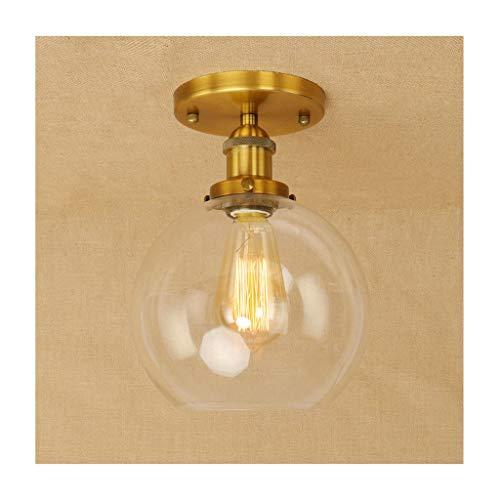 William 337 Plafondlamp, industrieel ijzeren glas, E27 111V ~ 240V, wooncultuur slaapkamer garderobe gang cafe bar verlichting [energieklasse A ++] [energieklasse A ++]