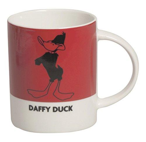 Excelsa Looney Tunes Daffy Duck mug 300 ML, Porcelaine, Rouge, 8.9 x 8.9 x 9 cm