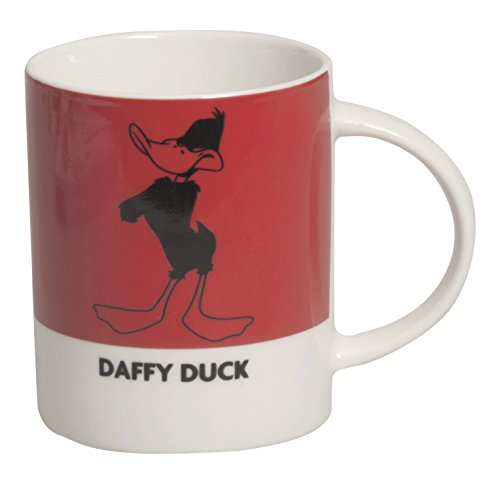 Excelsa Looney Tunes Daffy Duck mug 300 ML, Porcelaine, Rouge, 8.9 x 8.9 x 9 cm