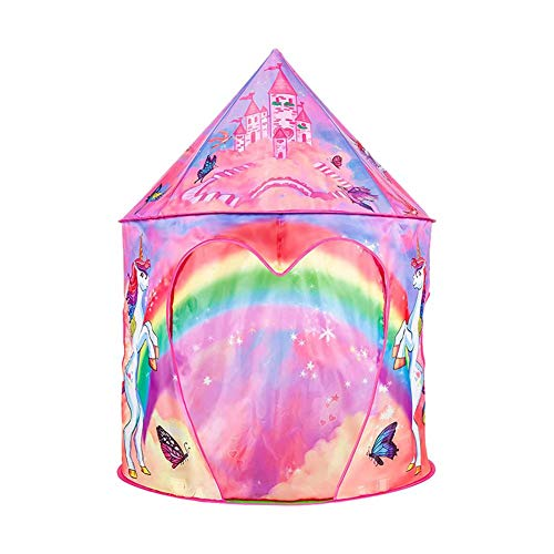 Sue-Supply Kids Play Tent Indoor Tent Game House Princess Yurt Tent for Boys Girls Indoor Have Fun