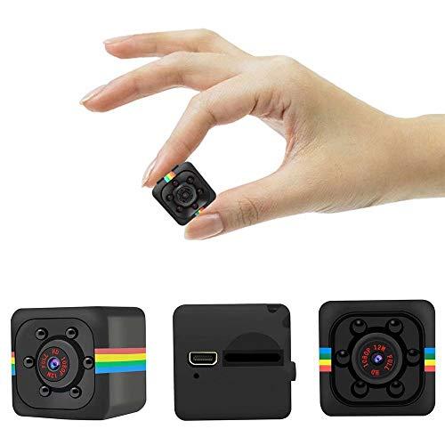 Mini Hidden Kamera SQ11, HD 1080P, unterstützt 32G SD-Karte mit Nachtsicht, 140 Weitwinkel-Micro Spy Nanny Sport Cam für Home, Büro