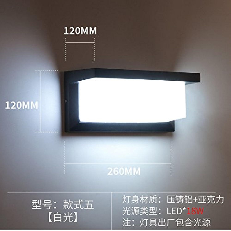 StiefelU LED Wandleuchte nach oben und unten Wandleuchten 18 W Outdoor LED Wandleuchte wasserdicht (3000K) durch Wnde terrasse Aluminium Licht, weies Licht B