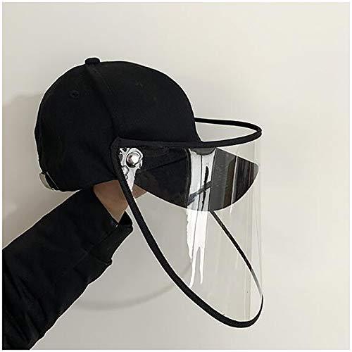 FHUILI Epidemie Schutz Hut - Baseball-Mütze Face Shield mit Transparent-Maske - Zuger Wasser-Tröpfchen, Staub, Pollen und Anti-Saliva für Outdoor-Anlass (Herausnehmbare)