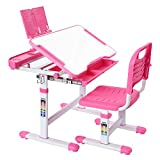 Kids Desk and Chair Set Height Adjustable Kids Study Table Children...