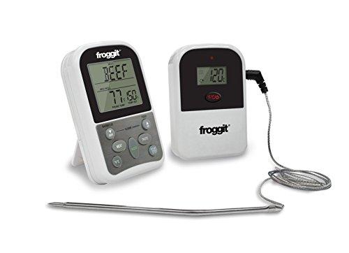 froggit SmokeMax ONE Funk Grillthermometer digital für Grillen, Backen, Ofen, Kochen, Steak