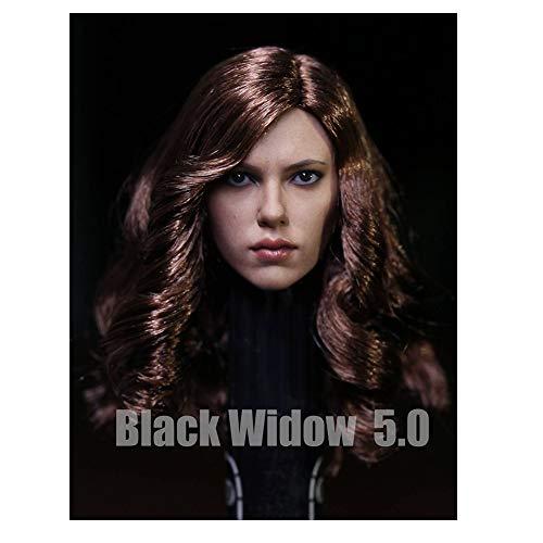SZWLL 1/6 Equipo Estadounidense 3 Guerra Civil Scarlett Johansson 5.0 Talla De Cabeza