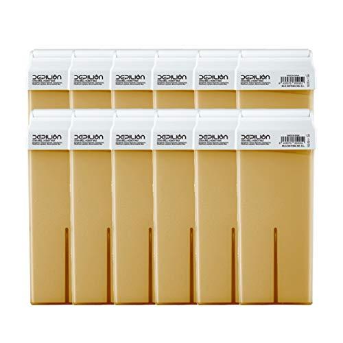 Cera depilatoria Roll On 12 x cartuchos de 100ml Miel - Alta calidad - Pack 12 x Roll-on Cera para depilación