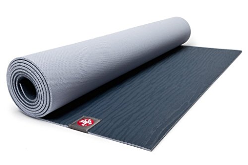 Manduka EKOLITE Yoga und Pilates Reisematte, 180 x 61 cm, 4mm dick, Midnight