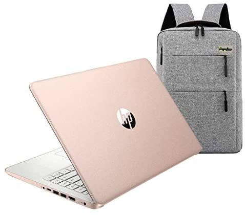 2020 HP 14 inch HD Laptop, Intel Celeron N4020 up to 2.8 GHz, 4GB DDR4, 64GB eMMC Storage, WiFi 5, Webcam, HDMI, Windows 10 S /Legendary Accessories (Google Classroom or Zoom Compatible) (Rose Gold)