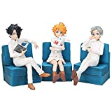 LCFF Figura Figura de Anime Figura Figura 3 PCS La Figura Prometida de Neverland Set Emma Norman Ray Ray Figurine Colección Estatua Modelo Niños Juguetes Doll Regalo