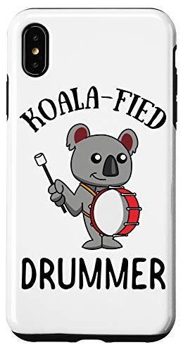 iPhone XS Max Bass Drum Koala Gift | Koalafied Drummer Marching Band Case