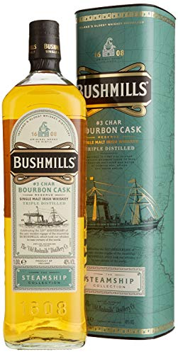 Bushmills Char Bourbon Cask Reserve The Steamship Collection mit Geschenkverpackung Whisky (1 x 1 l)