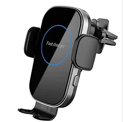 Cargador de automóvil inalámbrico, soporte de teléfono móvil con ventilación inalámbrico automático automático de 15 vatios.