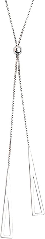 Underleaf Lariat Necklace for Women,Long Tassel Pendant Necklace Y Shaped Lariat Necklaces Adjustable Slide Necklace for Women