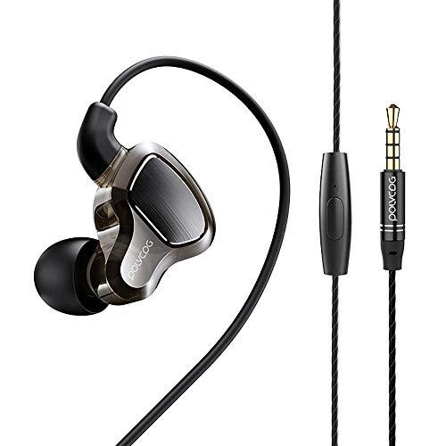 Wired Earphones,in-Ear monitor Earbuds,Double Dynamic drives earphone,Noise Cancelling Waterproof Sports Earphones…