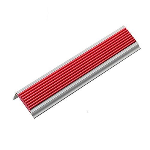 Nariz Antideslizante de Escalera 1 m de longitud en forma de aluminio de aluminio anti resbalón sin deslizamiento 42x22mm ángulo paso escalera escaleras perfiles 5 piezas Adecuado para Escaleras