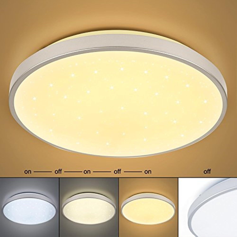 50W LED Deckenleuchte Farbwechsel Sternenhimmel Wohnzimmerlampe Kchenleuchte Deckenbeleuchtung Panel Lster Ultraslim Schlafzimmer Esszimmer energiesparend