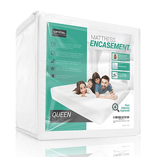 Crystal Trading Waterproof Mattress Encasement - Soft &...