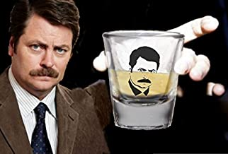 Parks and Recreation Ron Swanson Promo Shot Glass LIMITED EDITION