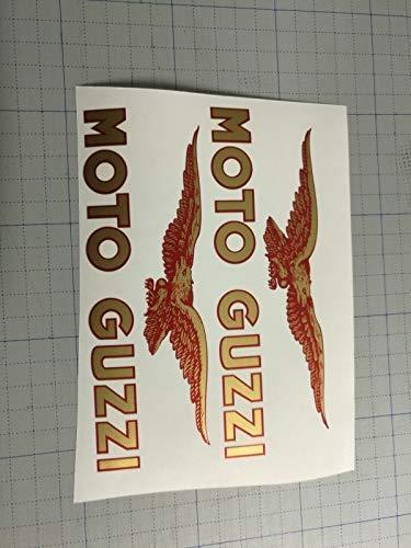 KIT 2 ADESIVI decalcomanie adesivi stickers TANK MOTO GUZZI NEVADA SERBATOIO RED