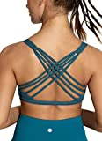 QUEENIEKE Womens Yoga Sport Bra Light Support Strappy Free to Be Bra Size XL Color Teal