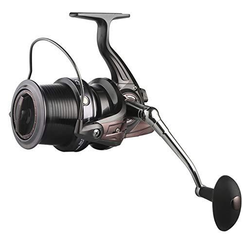 Jianghuayunchuanri Carrete de Pesca Giratorio 13 + 1BB 5.2: 1/5.1: 1/4.1: 1 Relación Spinning Pesca Reel HQ 3000-10000 Series Baitrunner de Acción De Pesca (Color : Gris, Size : HQ9000)
