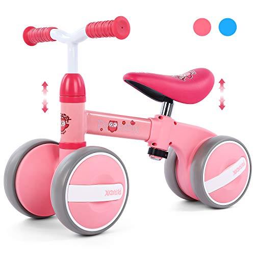 Peradix Bicicleta sin Pedales con Sillin Regulable para Niños,Bici sin Pedales Niño Adecuado 1 Año,Bicicleta Infantil sin Pedales de Juguetes Bici Triciclo Bebe 10-36 Meses