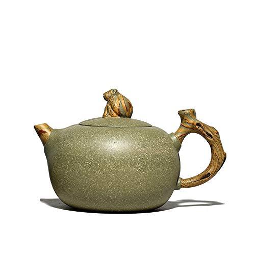 Yixing Boutique tetera taza de té filtro de arcilla púrpura teteras hervidor de belleza mineral crudo juego de té hecho a mano personalizado auténtico 340 ml