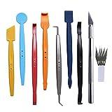 XIAOFANG Kit de herramientas de cuidado de pintura para automóviles Película de envoltura de vinilo Scaper Scaper Accesorios Herramientas Etiqueta engomada del vehículo Instalación Cuchillo cortador K