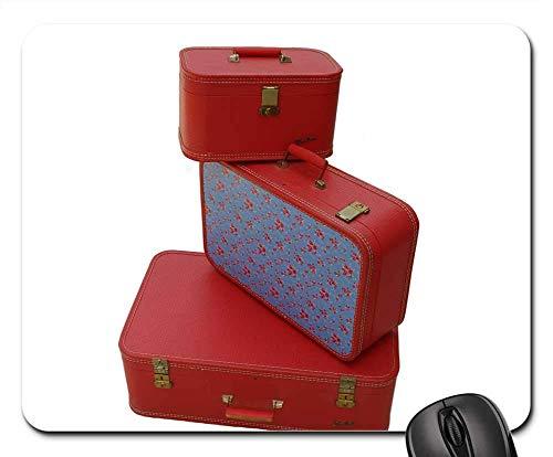 N\A Alfombrilla de ratón - Equipaje Vintage Equipaje Retro Equipaje Rojo Equipaje