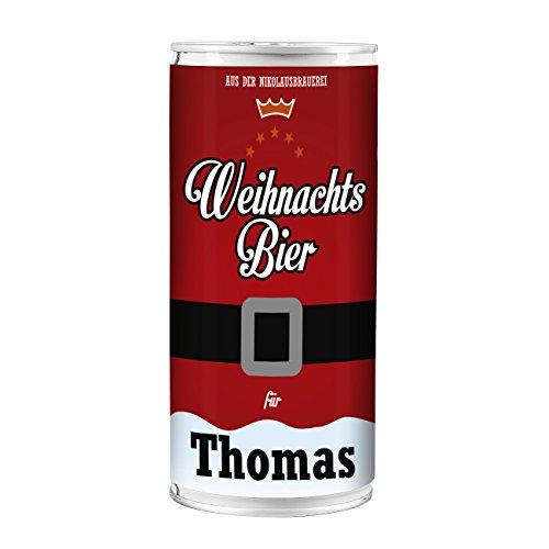 Lustapotheke® Weihnachts-Bier mit Wunschnamen - für alle Bierliebhaber zum Nikolaus oder Weihnachten