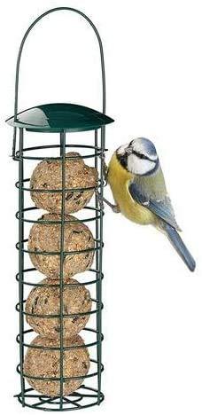 BEAUTYBIGBANG 2021 Nouveau Mangeoires Distributeur De Nourriture pour Mangeoires À Oiseaux en Plein Air, pour Boules De Graisse pour Boulettes, pour Petits Oiseaux